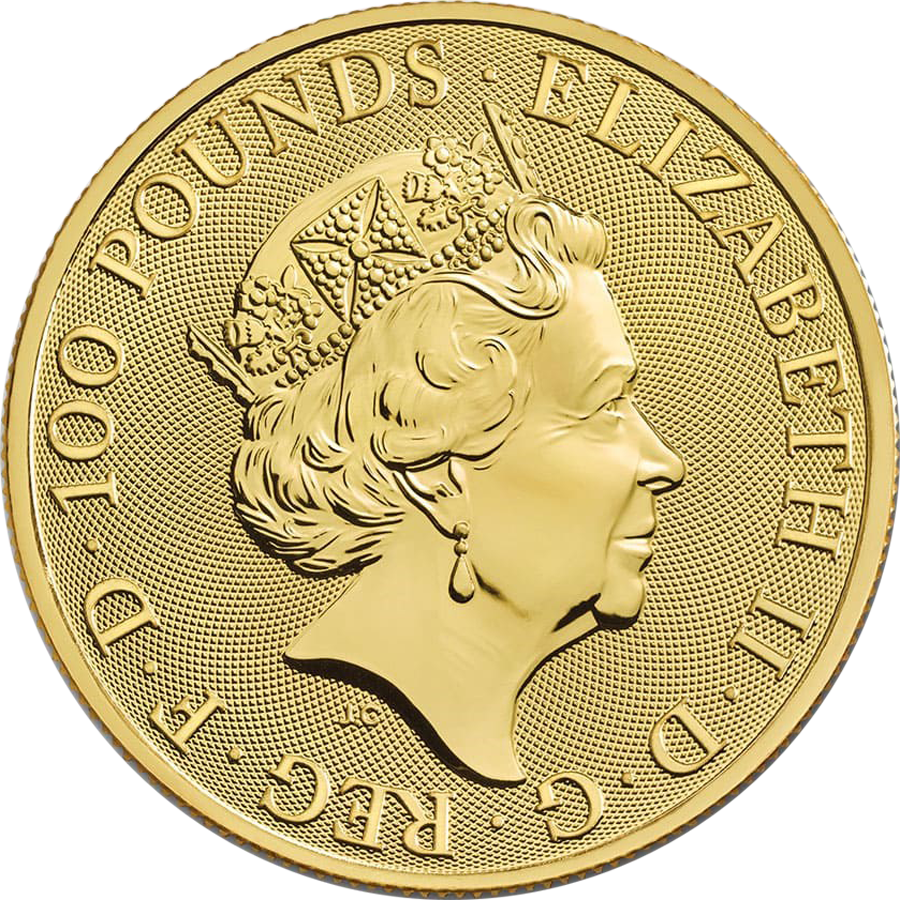 2020 UK Queen's Beasts The White Horse of Hanover 1oz Gold Coin (Image 2)