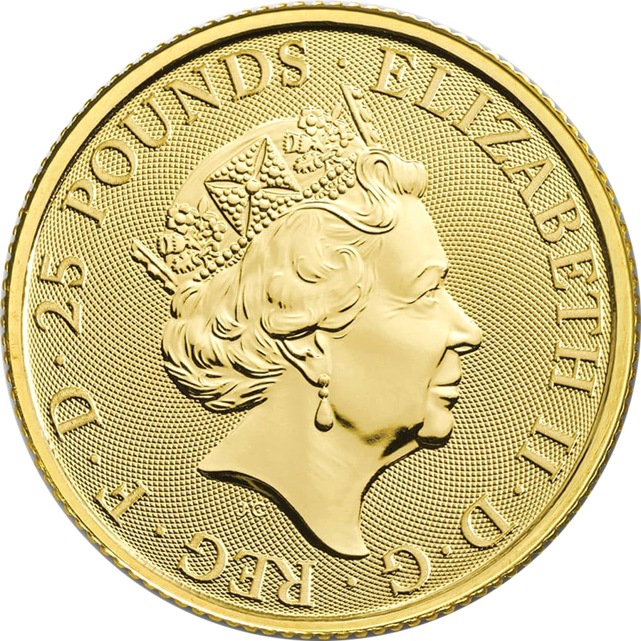 2020 UK Queen's Beasts The White Horse of Hanover 1/4oz Gold Coin (Image 2)
