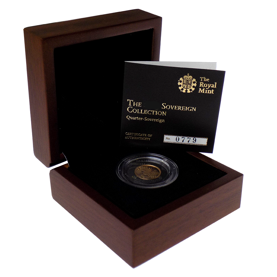 Pre-Owned 2018 UK Quarter Sovereign Proof Gold Coin