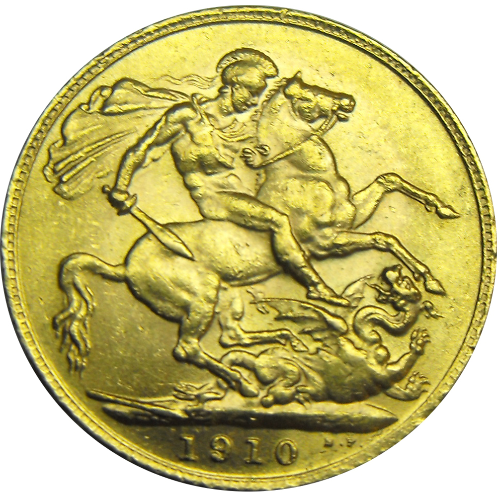 Pre-Owned UK Edward VII Full Sovereign Gold Coin - Mixed Dates (Image 2)