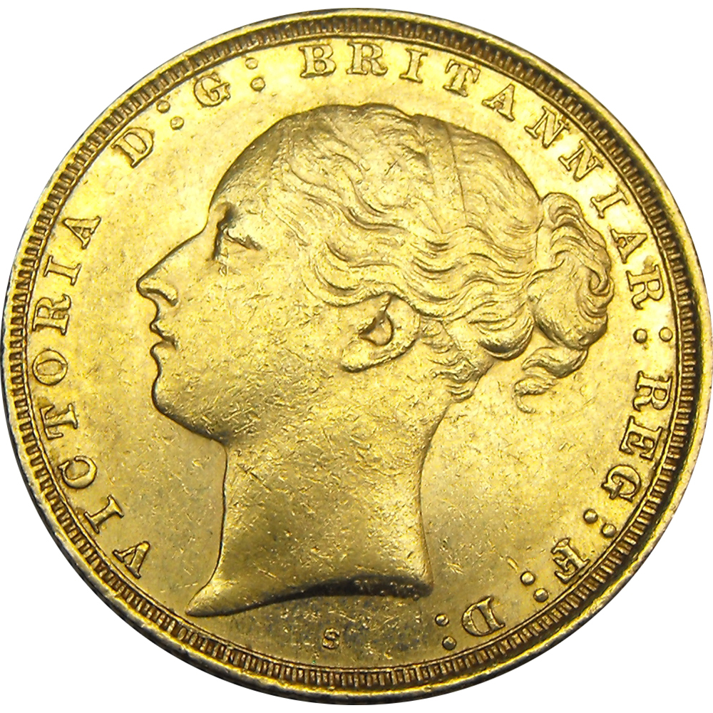 Pre-Owned Victorian 'Young Head' Full Sovereign Coin - Mixed Dates (Image 1)