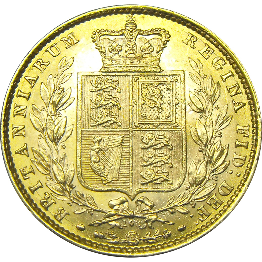 Pre-Owned UK Victorian 'Shield' Full Sovereign Gold Coin - Mixed Dates