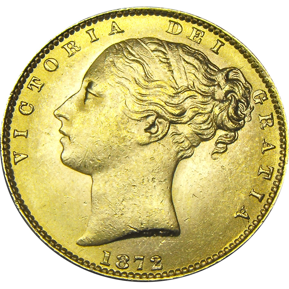 Pre-Owned UK Victorian 'Shield' Full Sovereign Gold Coin - Mixed Dates (Image 2)