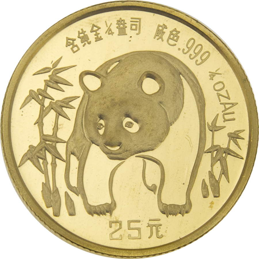 Pre-Owned 1986 Chinese Panda 1/4oz Gold Coin