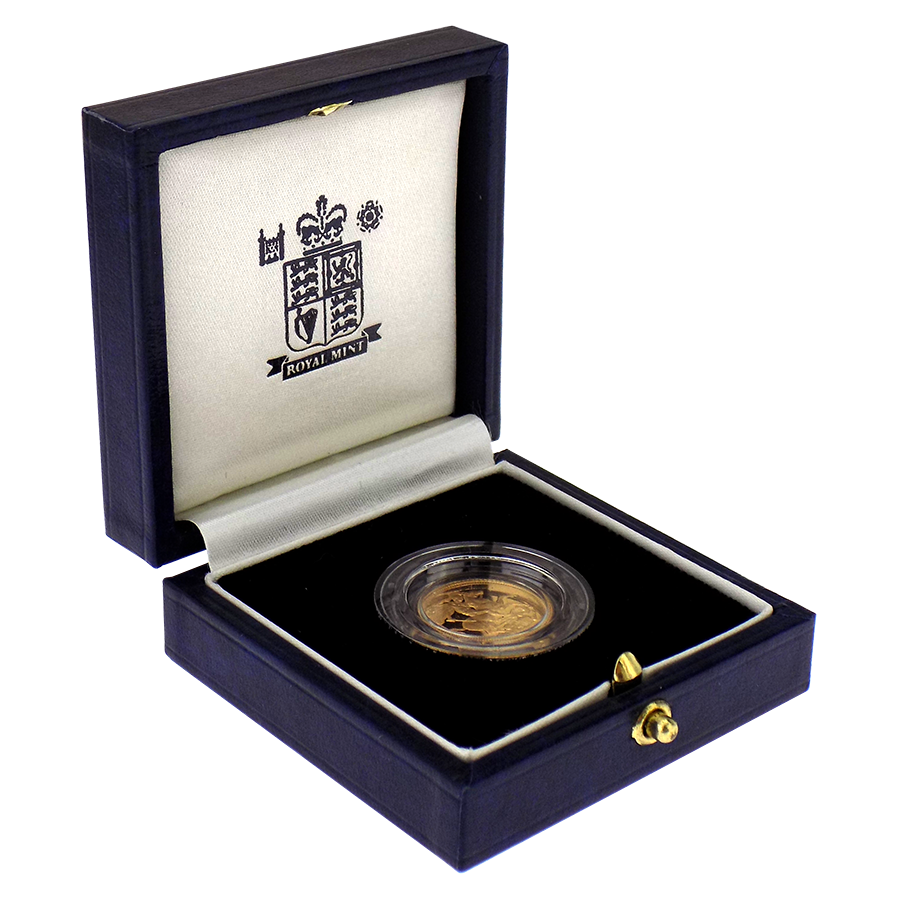 Pre-Owned 1998 UK Half Sovereign Gold Proof Coin