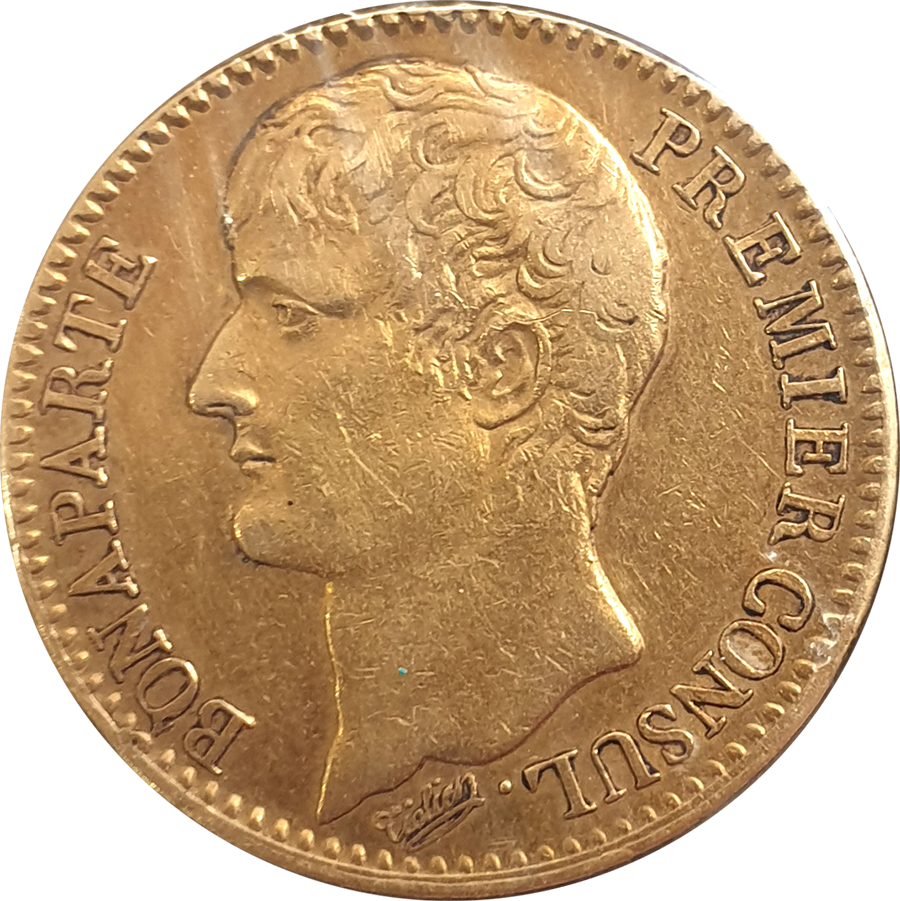 Pre-Owned AN XI French 40 Franc Napoleon First Consul Gold Coin