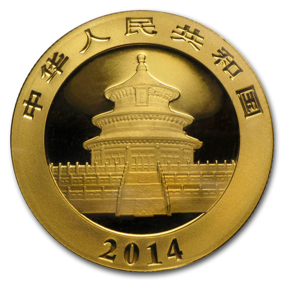 Pre-Owned 2014 Chinese 1oz Panda Gold Coin (Image 2)