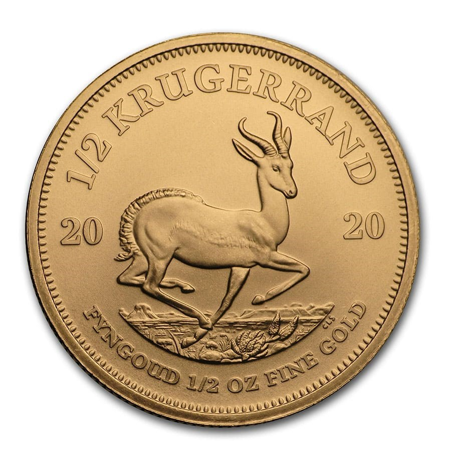 2020 South African Krugerrand 1/2oz Gold Coin