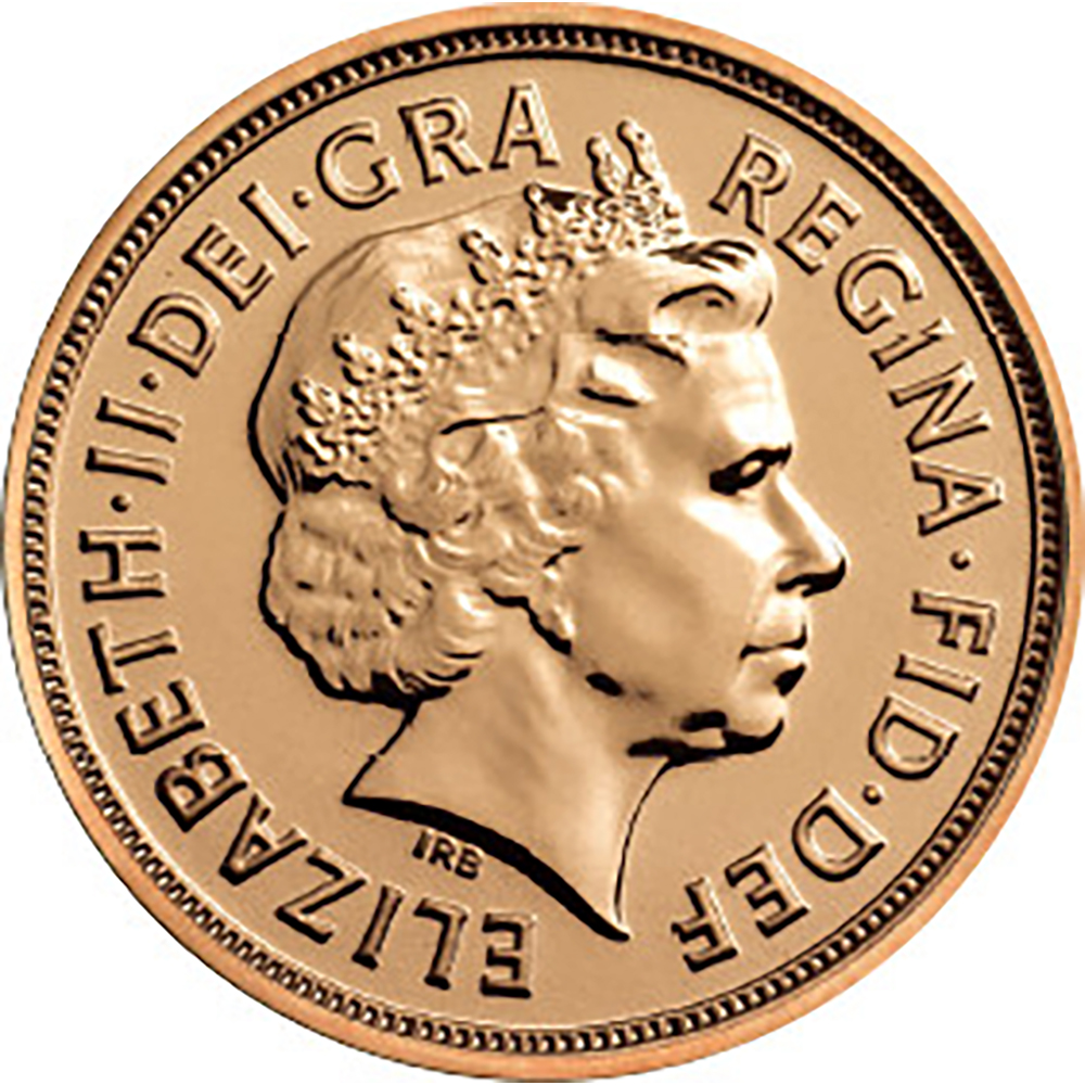 Pre-Owned 2014 UK Elizabeth II Fourth Portrait Full Sovereign Gold Coin
