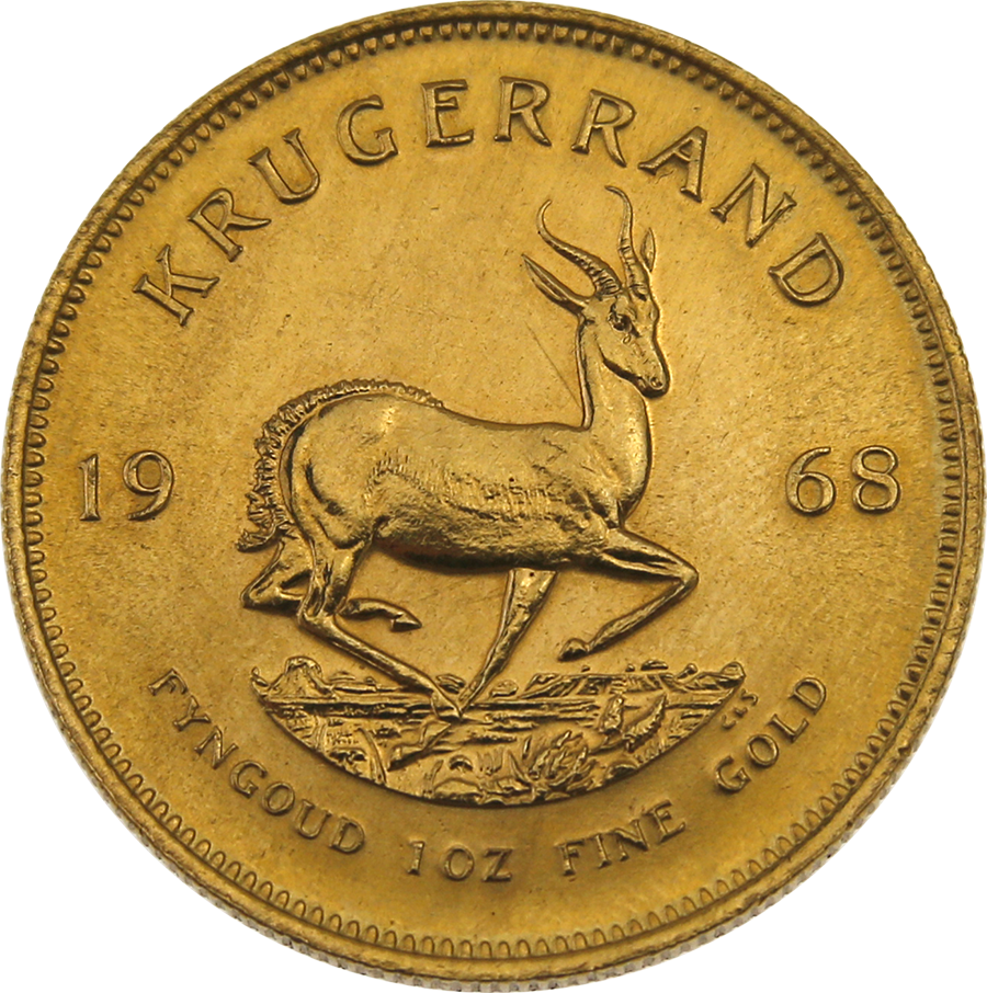Pre-Owned 1968 South African Krugerrand 1oz Gold Coin