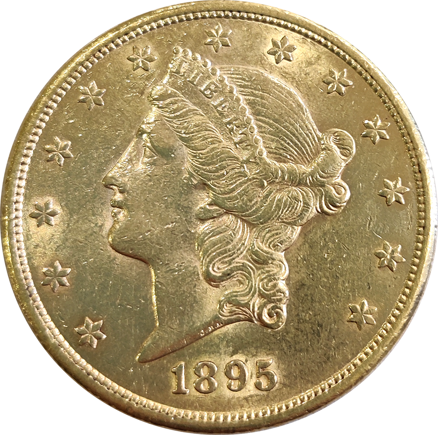 Pre-Owned 1895 USA $20 Double Eagle Gold Coin