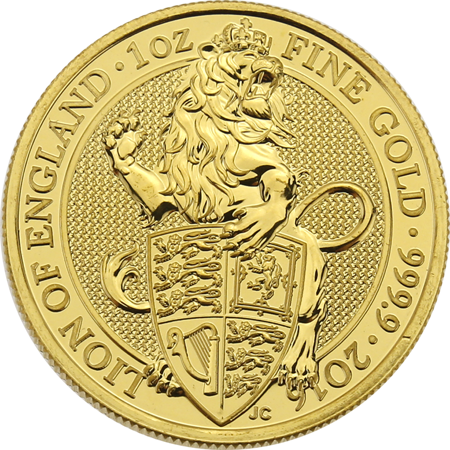Pre-Owned 2016 UK Queen's Beasts: The Lion 1oz Gold Coin