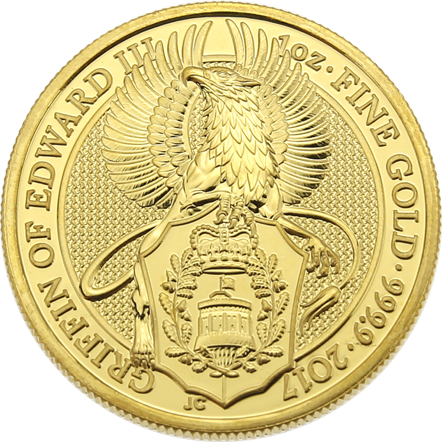 Pre-Owned 2017 UK Queen's Beasts: The Griffin 1oz Gold Coin