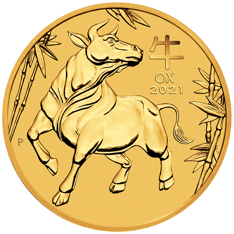 2021 Australian Lunar Ox 1oz Gold Coin