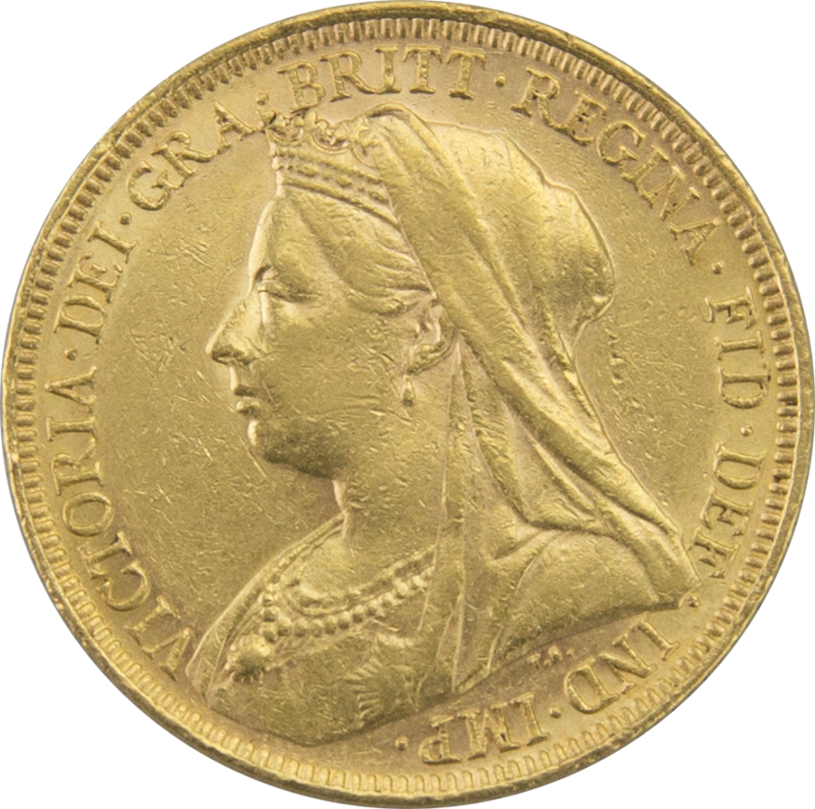 Pre-Owned - 1895 Melbourne Mint Victoria 'Veiled Head' Full Sovereign Gold Coin