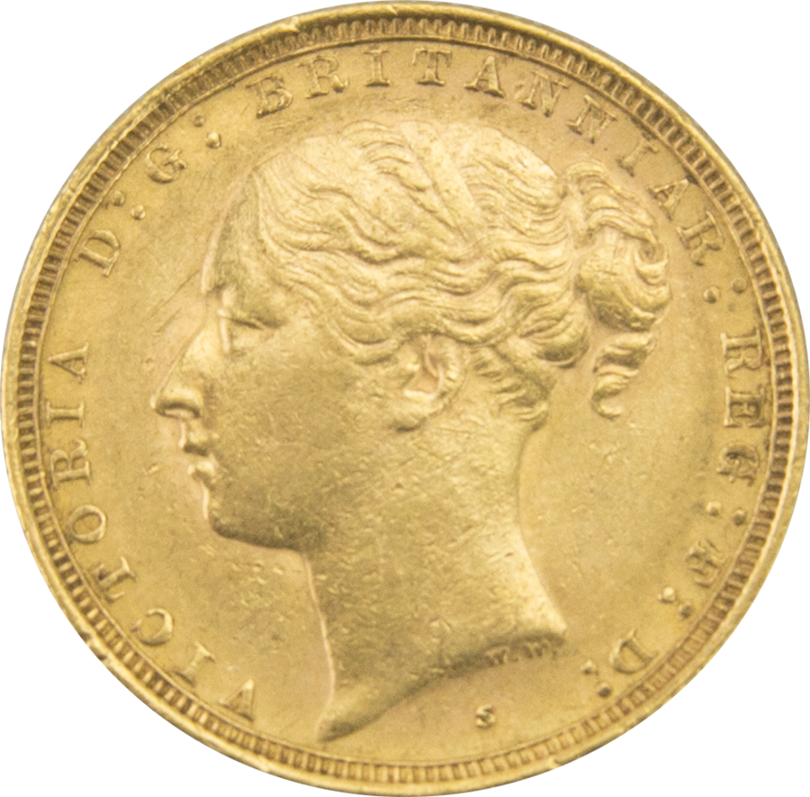 Pre-Owned - 1885 Sydney Mint Victoria Young Head Full Sovereign Gold Coin