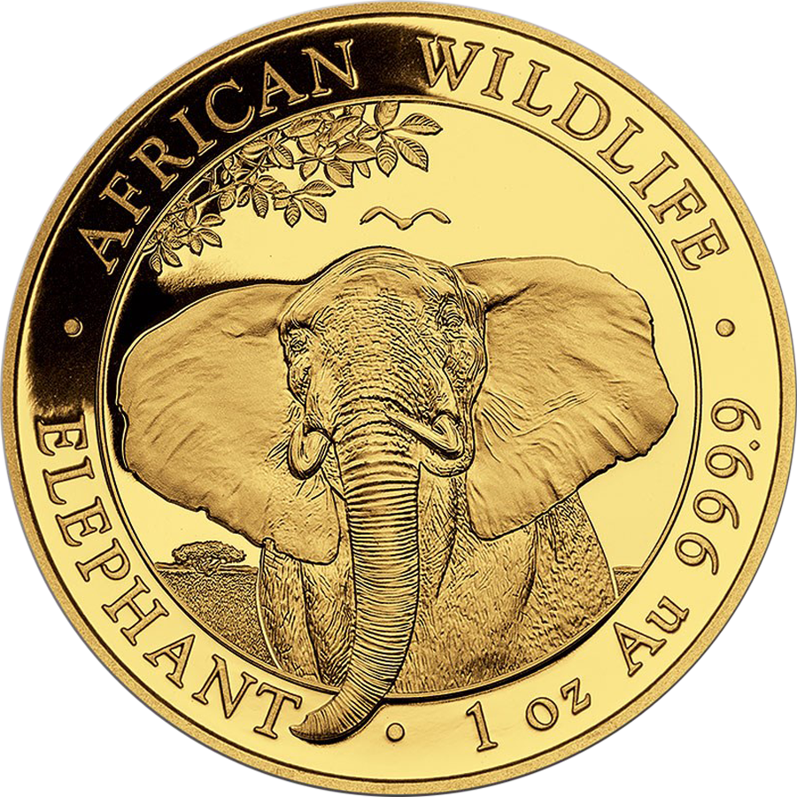2021 Somalian Elephant 1oz Gold Coin