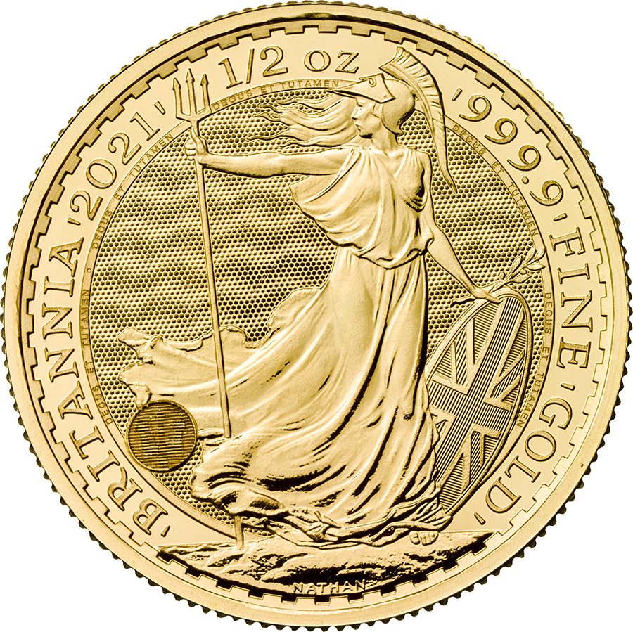 2021 UK Britannia 1/2oz Gold Coin
