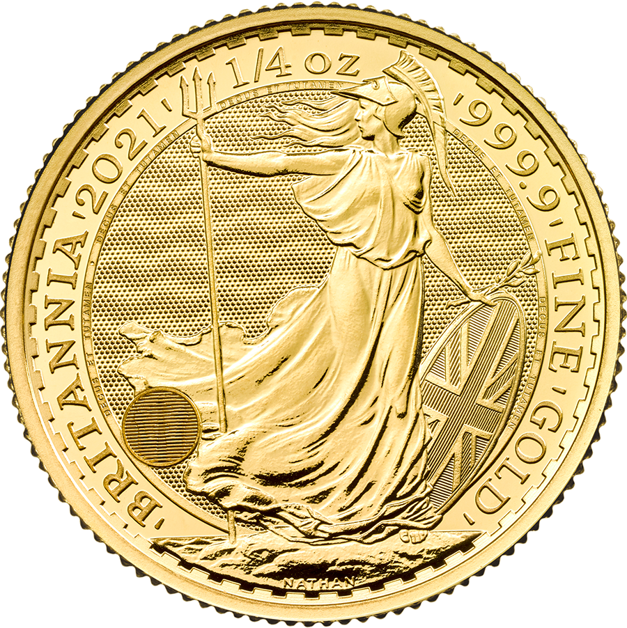 2021 UK Britannia 1/4oz Gold Coin