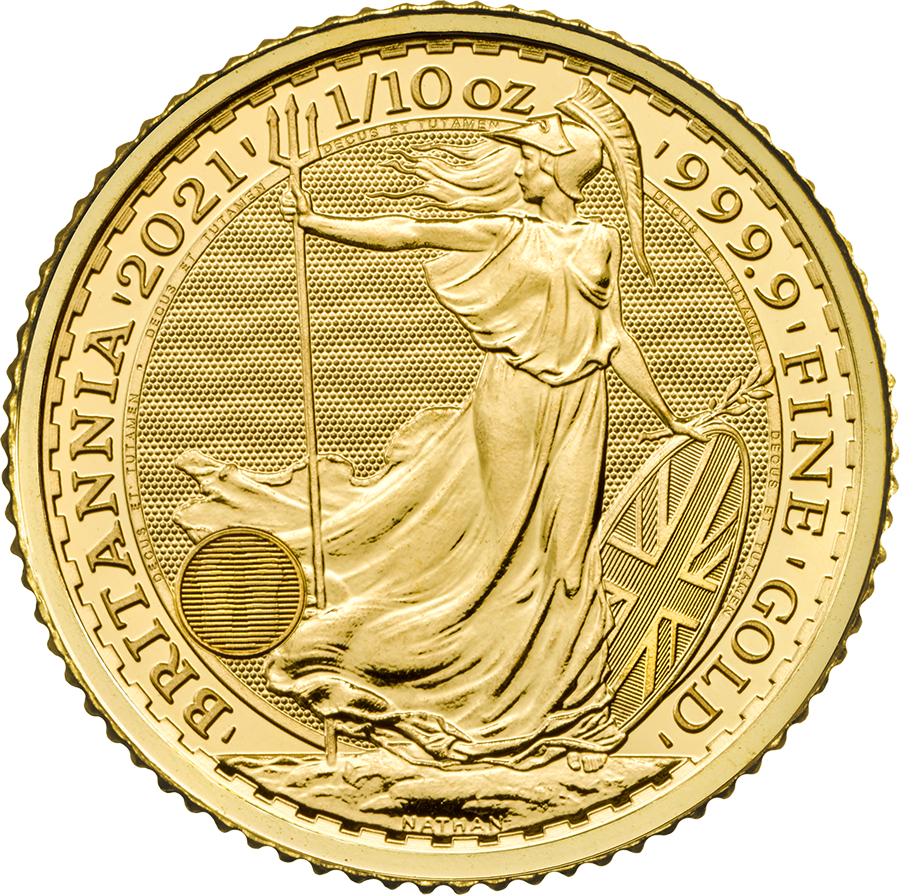 2021 UK Britannia 1/10oz Gold Coin