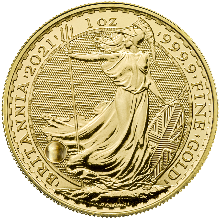 2021 UK Britannia 1oz Gold Coin (Image 1)