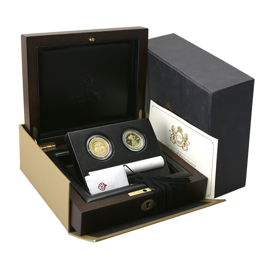 Pre-Owned 2015 East India Company Gold Mohur & Guinea Coin Set