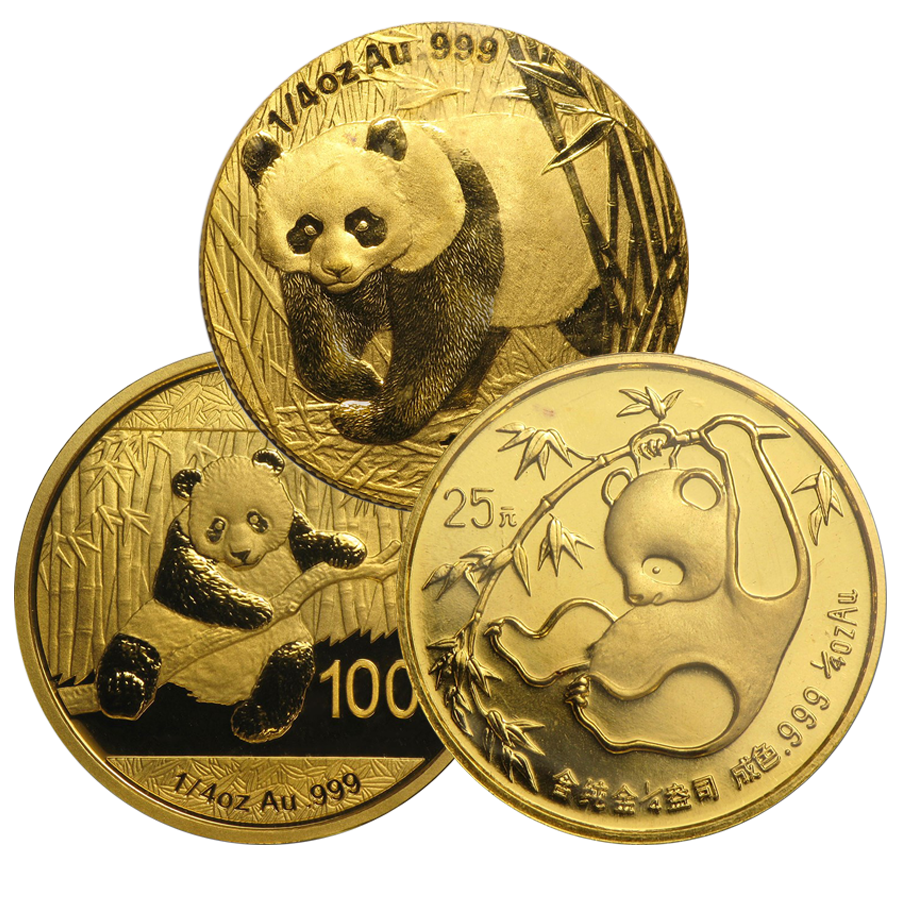 Pre-Owned Chinese Panda 1/4oz Gold Coin - Mixed Dates