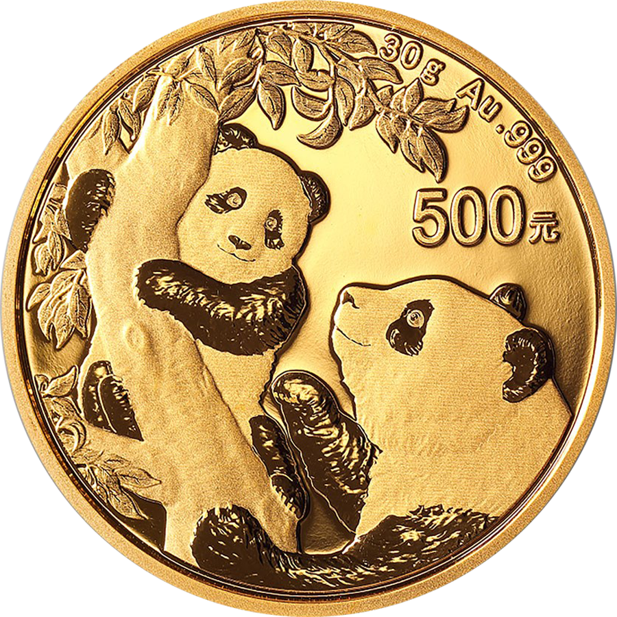 2021 Chinese Panda 30g Gold Coin