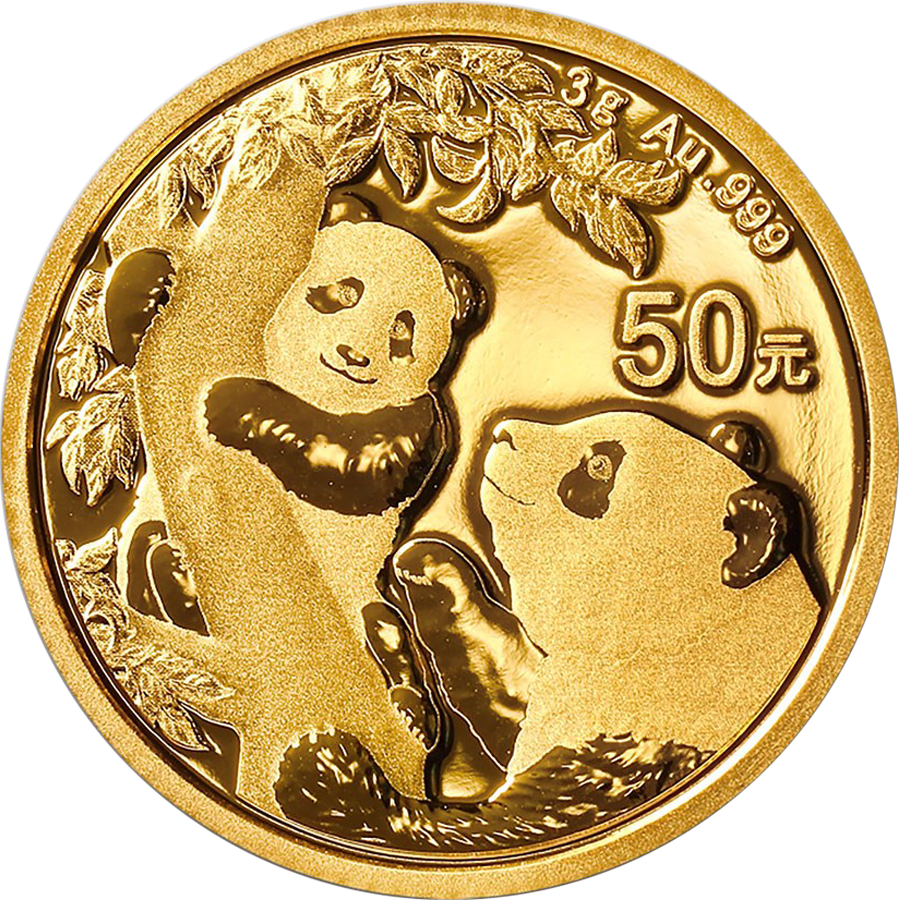 2021 Chinese Panda 3g Gold Coin
