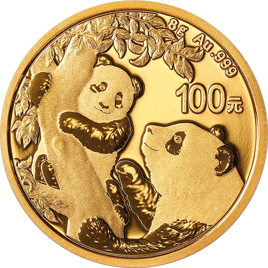 2021 Chinese Panda 8g Gold Coin