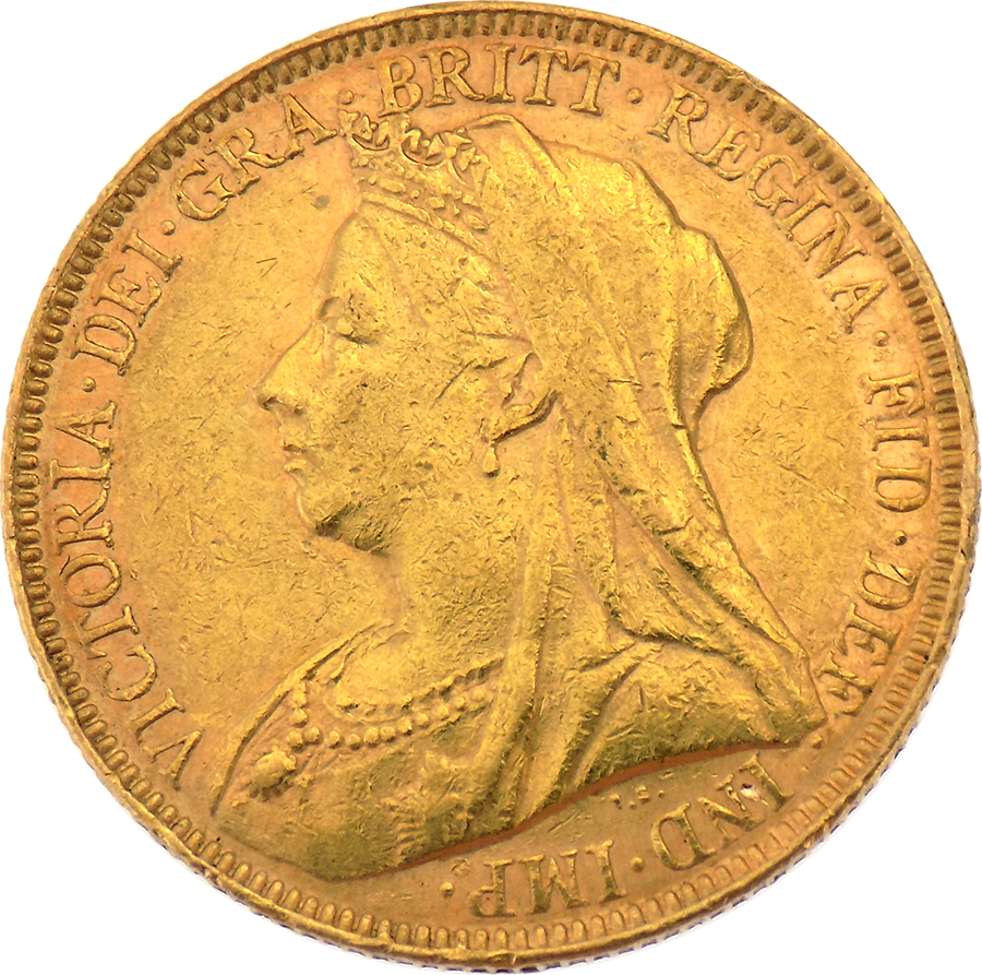 Pre-Owned Victorian Mixed Head Full Sovereign Coin - Mixed Dates