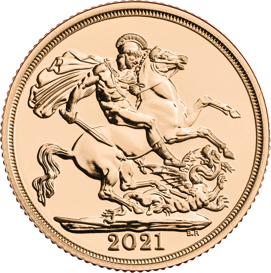 2021 UK Half Sovereign Gold Coin