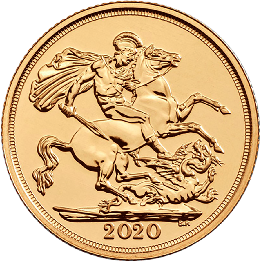 Pre-Owned 2020 UK Full Sovereign Gold Coin (Image 1)