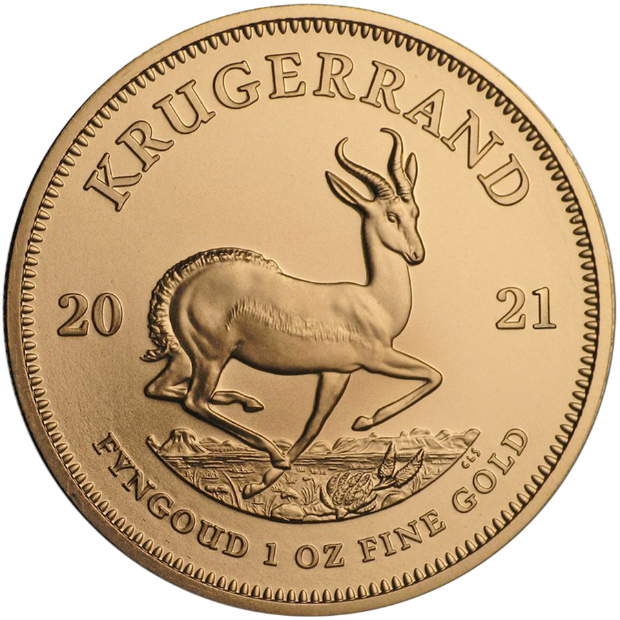 2021 South African Krugerrand 1oz Gold Coin (Image 1)