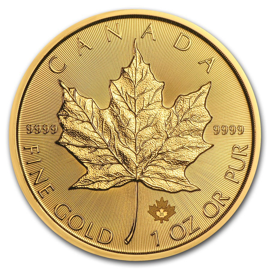 2021 Canadian Maple 1oz Gold Coin (Image 1)