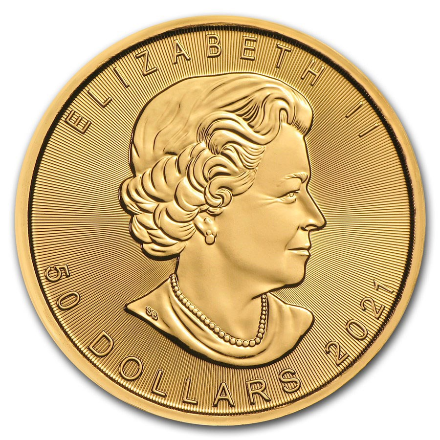 2021 Canadian Maple 1oz Gold Coin (Image 2)