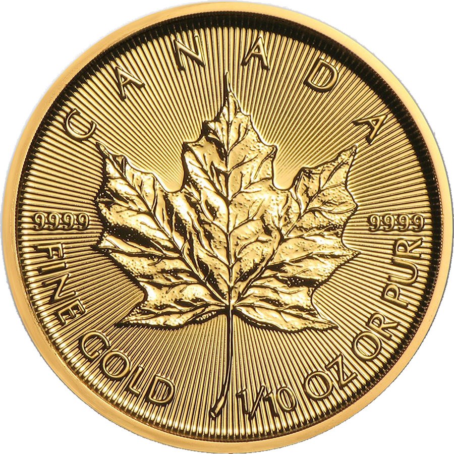 2021 Canadian Maple 1/10oz Gold Coin