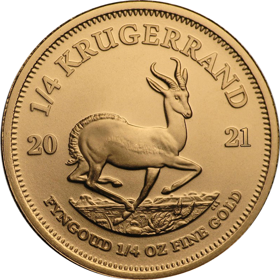 2021 South African Krugerrand 1/4oz Gold Coin