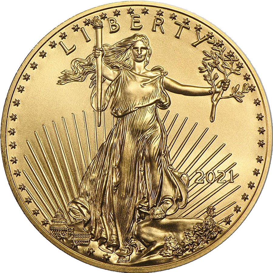 2021 USA Eagle 1oz Gold Coin