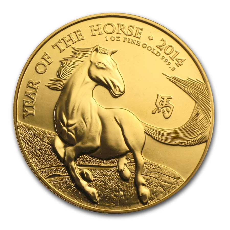 2014 UK Lunar Horse 1oz Gold Coin