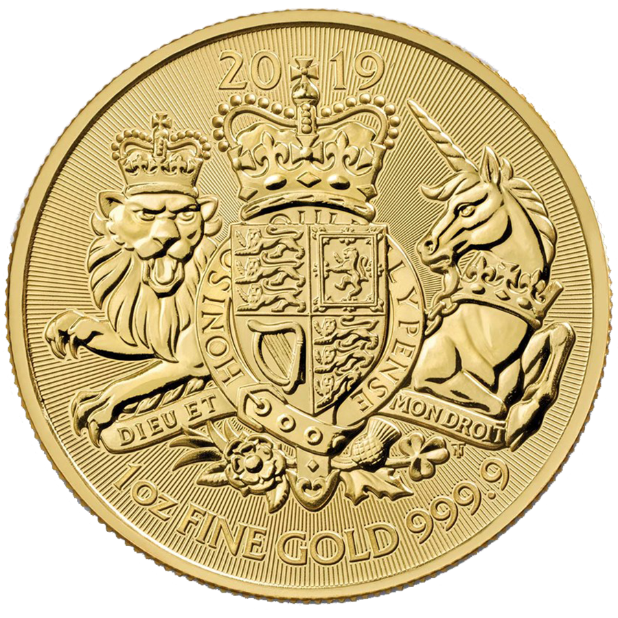 Pre-Owned 2019 UK Royal Arms 1oz Gold Coin