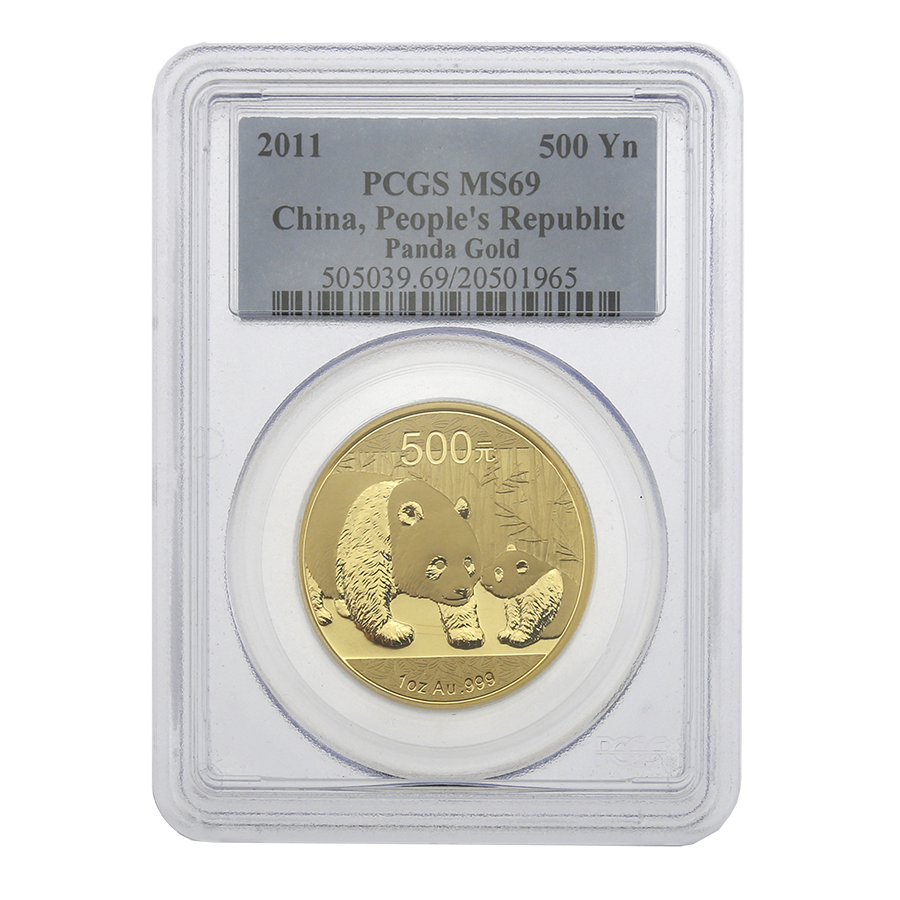 Pre-Owned 2011 Chinese Panda 1oz Gold Coin PCGS Graded MS 69 - 505039.69/20501965 (Image 1)