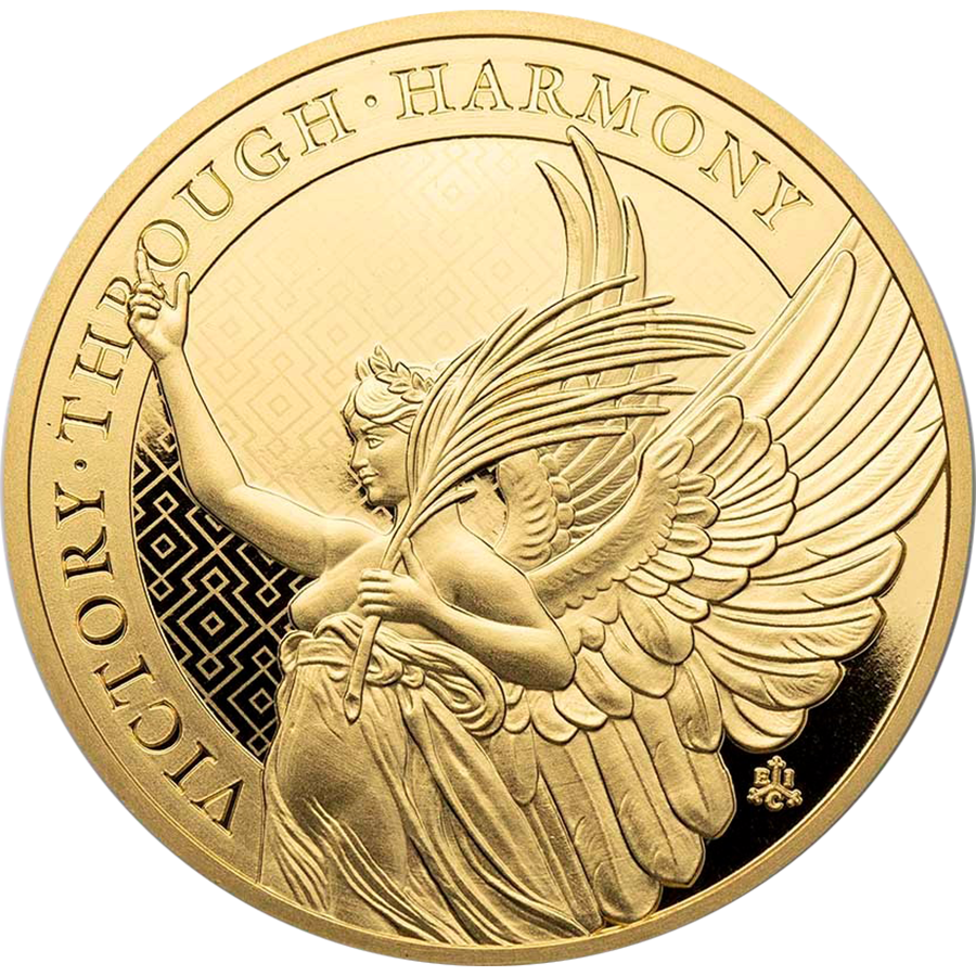 2021 St Helena The Queen's Virtues Victory 1oz Gold Coin