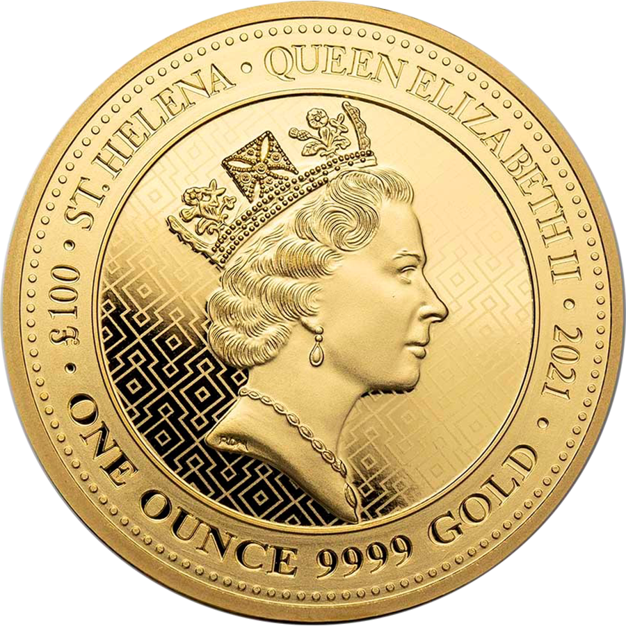 2021 St Helena The Queen's Virtues Victory 1oz Gold Coin (Image 2)