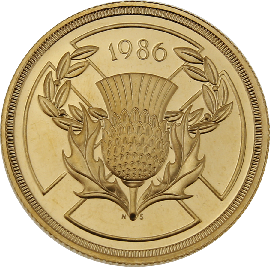 Pre-Owned UK 1986 Commonwealth Games Proof Design £2 Gold Coin