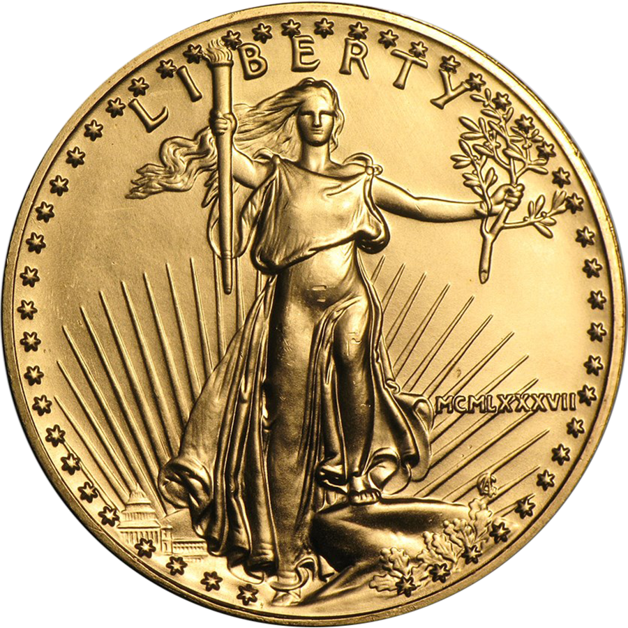 Pre-Owned USA 1987 Eagle 1oz Gold Coin