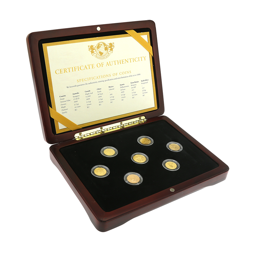 Pre-Owned 2009 Magnificent Seven 1/10oz 7-Coin Set