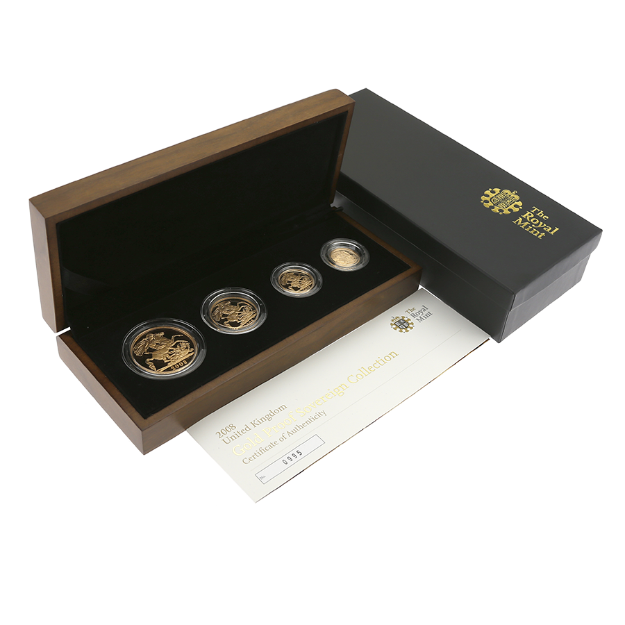 Pre-Owned 2008 UK Sovereign 4-Coin Collection