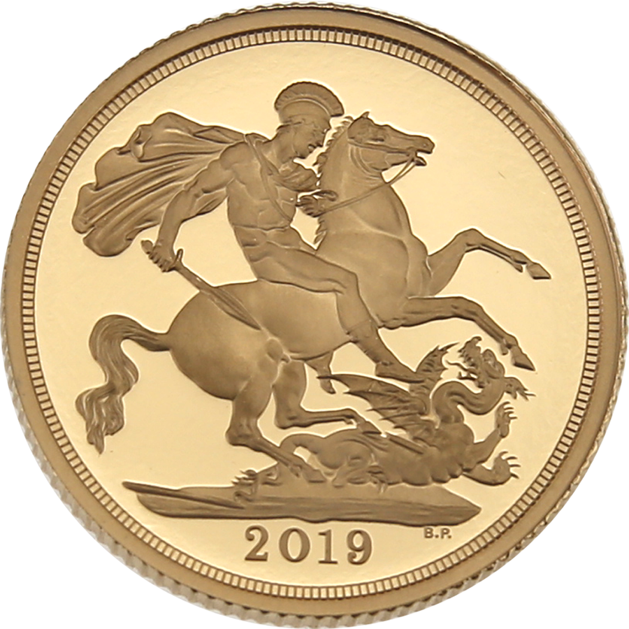 Pre-Owned 2019: UK Full Sovereign Gold Proof Coin (Image 2)