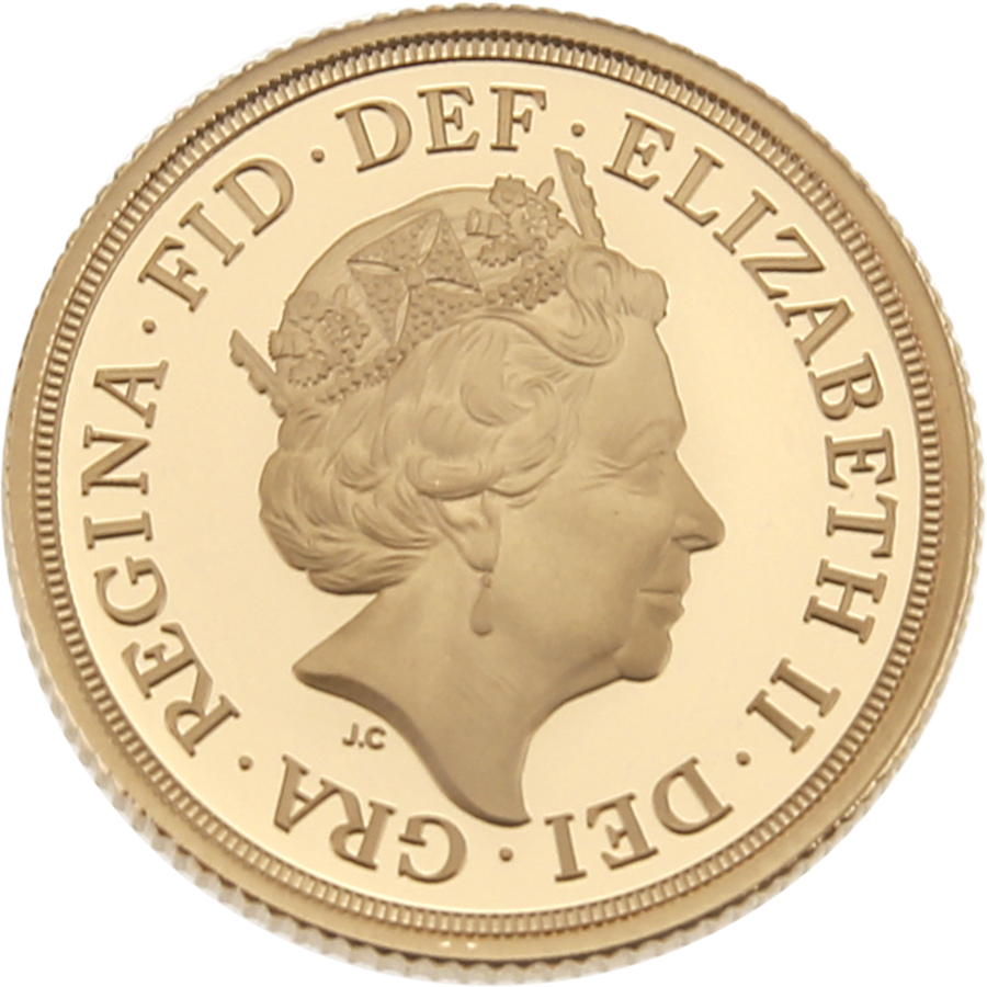 Pre-Owned 2019: UK Full Sovereign Gold Proof Coin (Image 3)